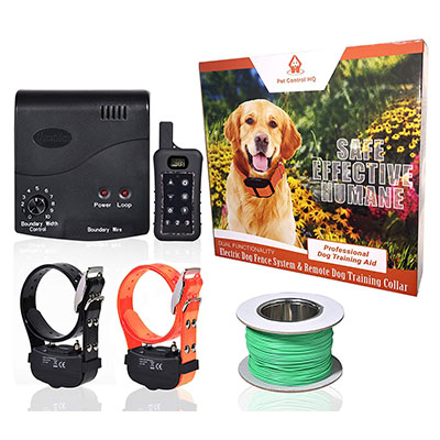 Best In-Ground Fences Pet Control HQ Wireless Electric Dog Fence System