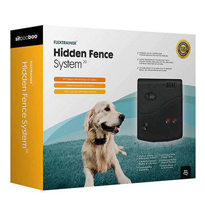 Best Dog Containment Fences Sit Boo-Boo Advanced Electric Hidden Dog Fence